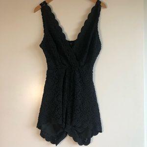 3/$25 SALE Audrey Black Lace Romper